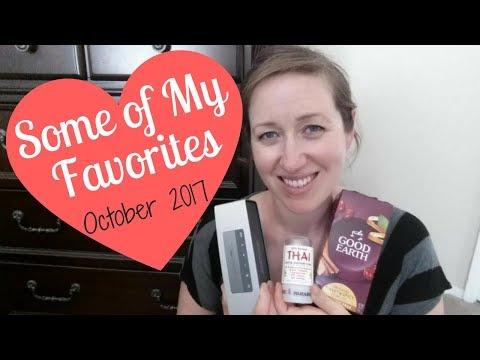 5 of My Favorite Things - October 2017