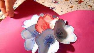 DIY 3D Волшебная открытка с цветами How To Make 3D Flower Pop Up Card DIY Tutorial