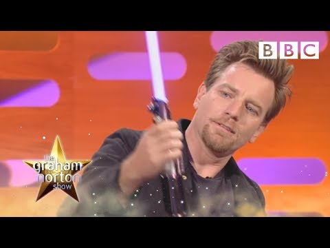 Ewan McGregor Plays With Light Sabres  The Graham Norton   Series 9 Episode 12  BBC One