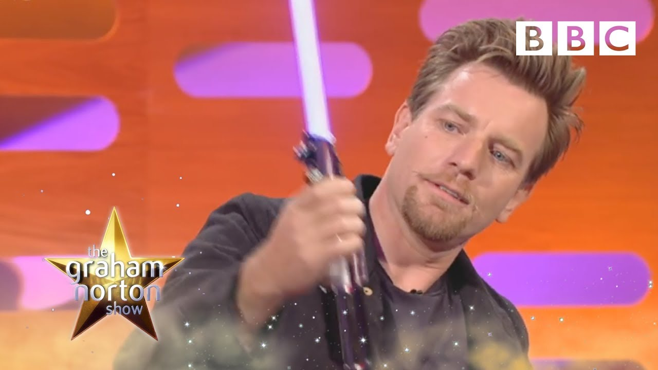 Ewan Mcgregor Plays With Light Sabres The Graham Norton