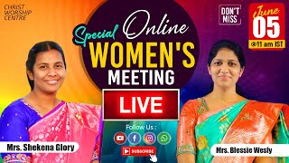 Special Women's Online  Meeting | 5th June 2020 |  Mrs Glory Caleb & Mrs Blessie Wesly