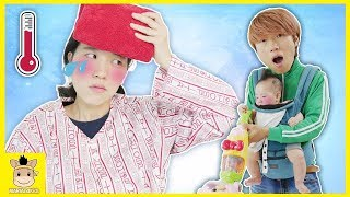 Take care of Sick Mom for kids! Pretend Play as a Housemaid | MariAndKids Toys