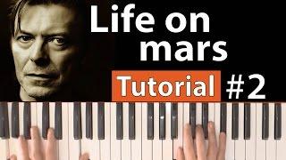 """Como tocar """"Life on mars""""(David Bowie) - Parte 2/3 - Piano tutorial y partitura"""