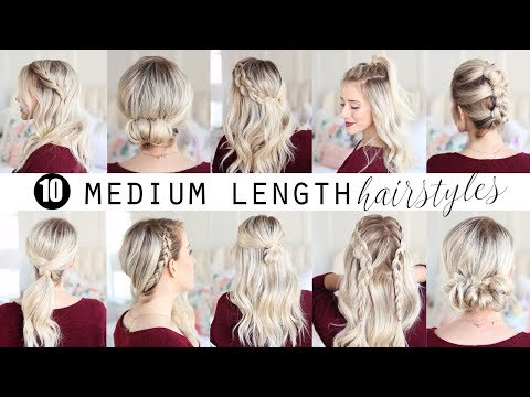 TEN Medium Length Hairstyles!