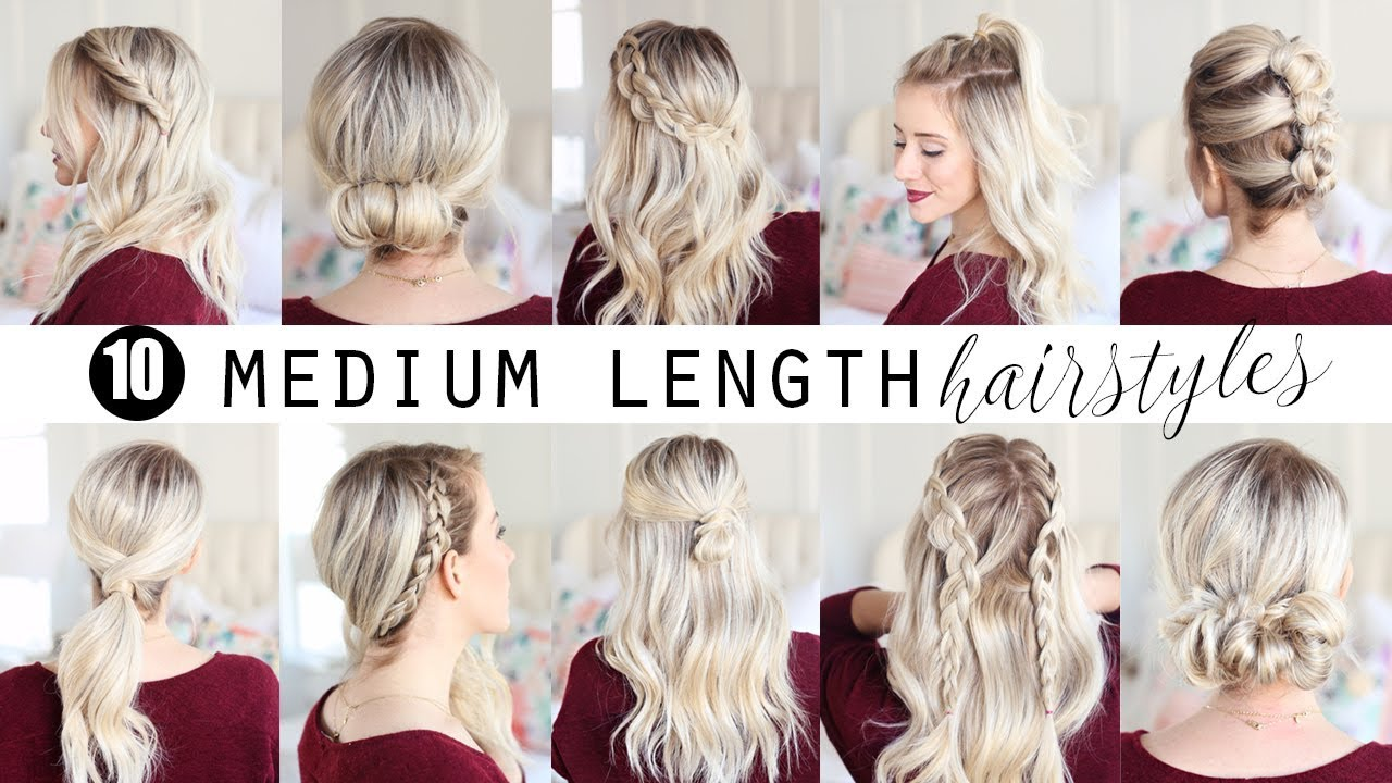 TEN Medium Length Hairstyles!!! | Twist Me Pretty - YouTube