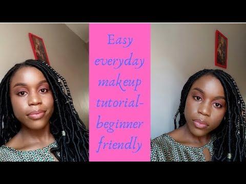 easy everyday makeup tutorial beginner friendly  youtube
