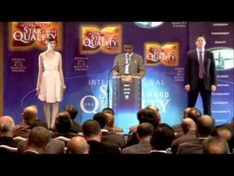 Star Award for Quality Geneve 2012 - Afrika HSEQ - Brice Otam Bengono