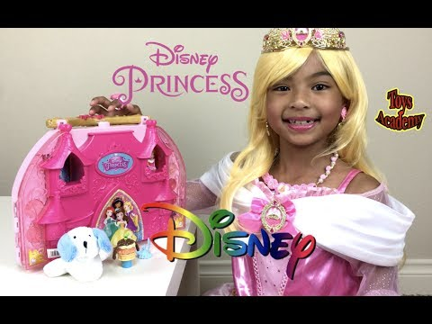 Thumbnail: Disney Princess Aurora IRL Cosmetic Castle Vanity Unboxing Surprise Eggs | Toys Academy