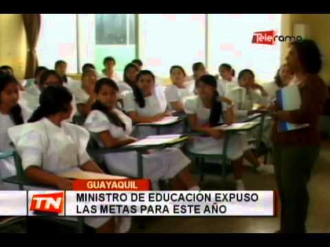 Ministro de educación expuso las metas para este año