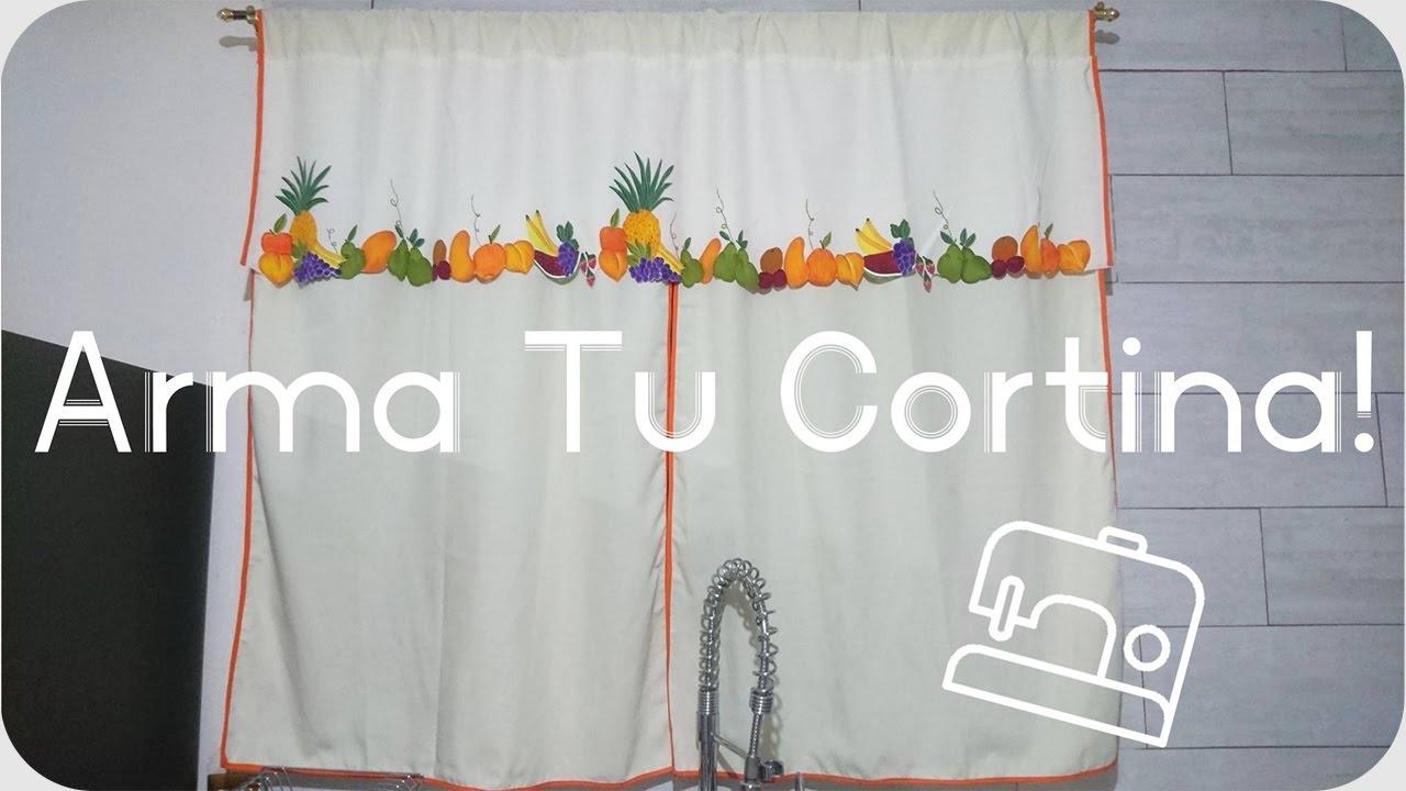 Juego de cocina | Armado de cortina | Paso a paso - YouTube