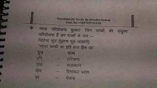 व्यास परियोजना gk short trick by जितेन्द्र कुमार