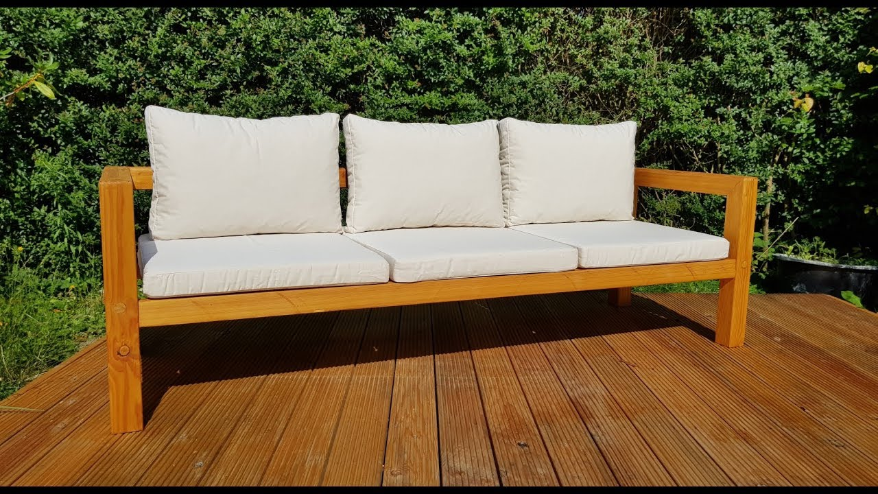 Lounge Sofa 2 Sitzer Outdoor Diy Modern Outdoor Sofa - Gartenbank Selber Bauen - Youtube