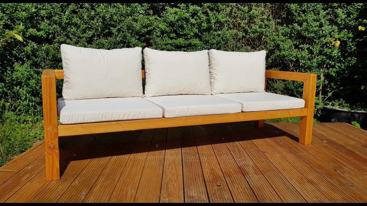 DIY Modern Outdoor Sofa   Gartenbank selber bauen