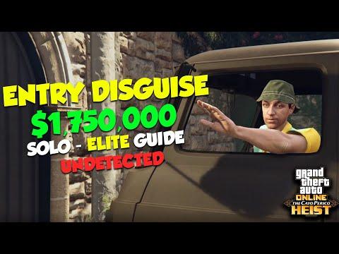 GTA Online Cayo Perico Heist Big Con Disguise SOLO Elite Challenge Stealth Guide - $1,763,012