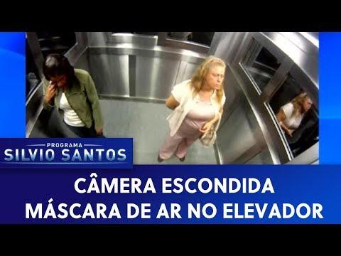 Máscara de ar no elevador | Câmeras Escondidas (03/04/20)
