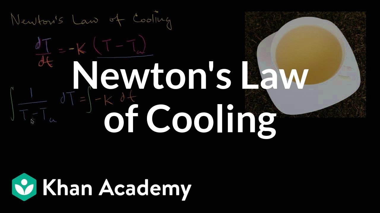 Newton's Law of Cooling | Differential equations (video