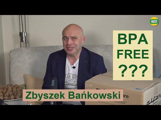 BPA FREE w wyciskarce do soków ALFA PURE - Co to oznacza ??? cz.6 Zbyszek Bańkowski STUDIO 2021