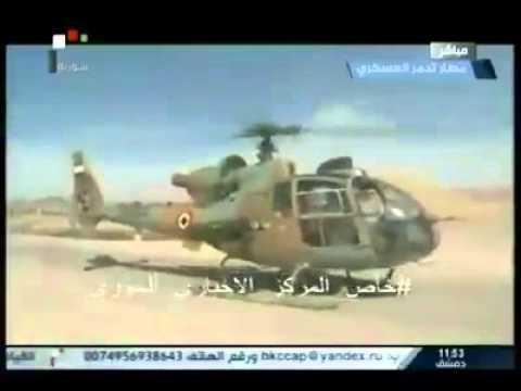 Syria, Homs, Colonel Suheil al-Hassan Flys and Lands in Palmyra Airport.