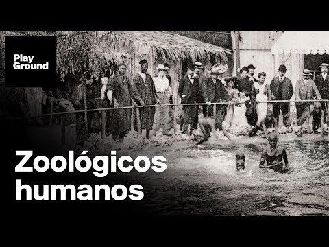 Seres humanos expuestos como animales en el zoo, el espectáculo supremacista de la época colonial.