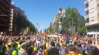 Manifestación masiva en Barcelona por los presos políticos