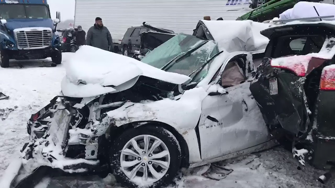 A day on I-94 - 40 Vehicle Pile-up in Wisconsin