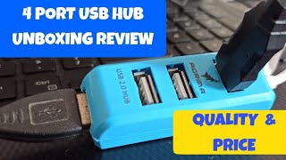 Best USB extension | 4 PORT USB HUB UNBOXING PRICE QUANTITY REVIEW | Best & Chpeast USB Hub