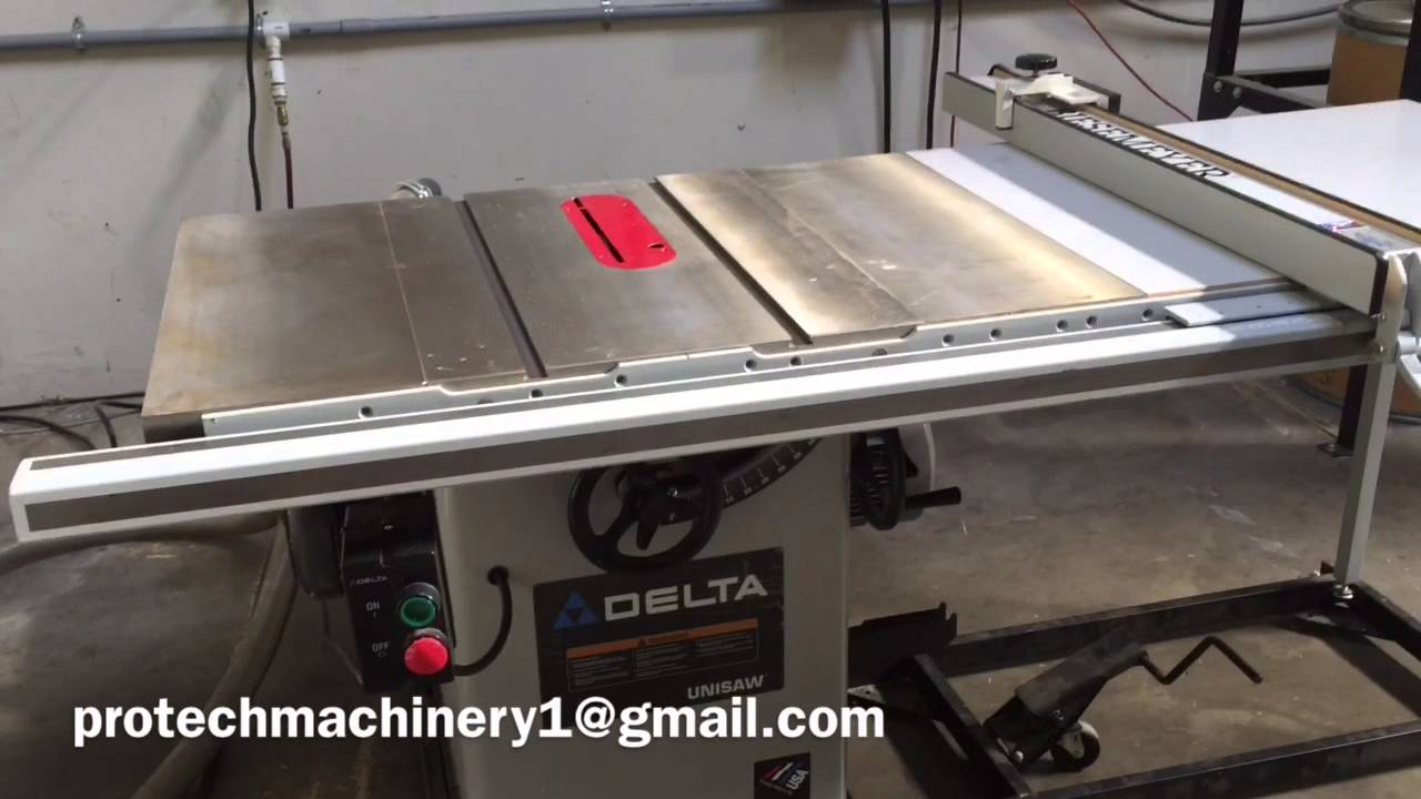 5 hp industrial delta table saw youtube Pro tech table saw