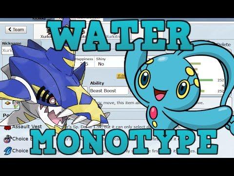Pokemon Showdown Water Type Monotype Team