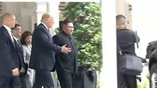 Trump le mostró a Kim el interior de