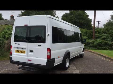 White 63 ref Transit 17 seat minibus