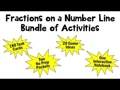 Fractions on a Number Line 3rd Grade Common Core Activiites