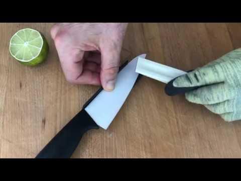 how to sharpen ceramic blade