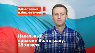 Волгоград: акция в поддержку забастовки избирателей 28 января в 14:00