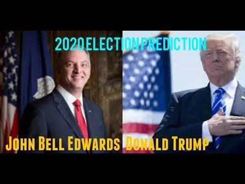 2020 Election Prediction  Donald Trump vs John Bell Edwards