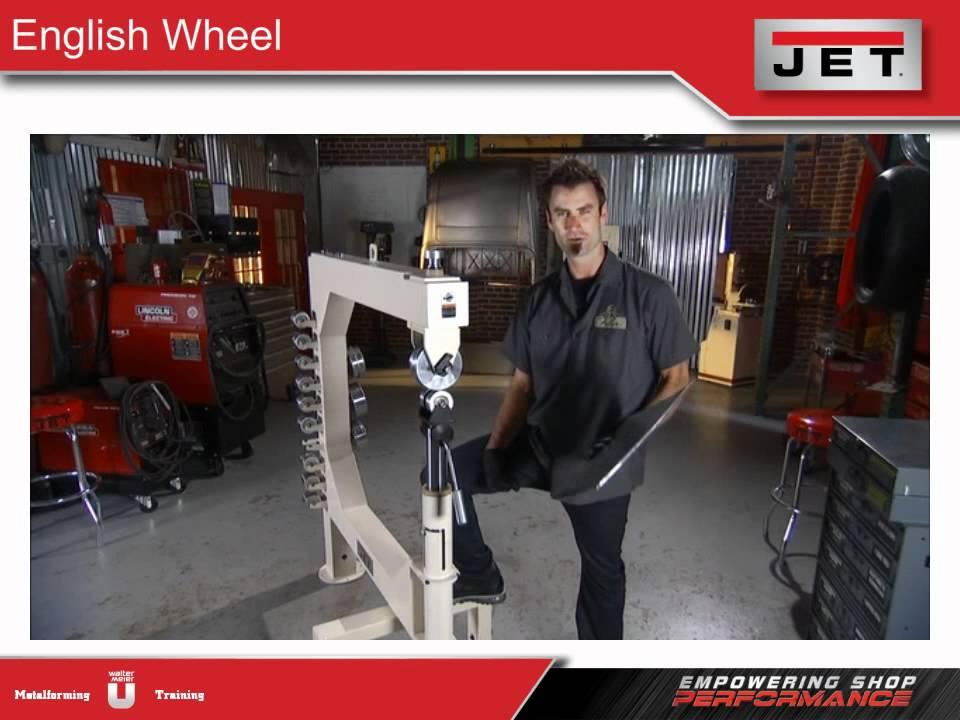 Jet Metalforming English Wheel And Planishing Hammer Youtube