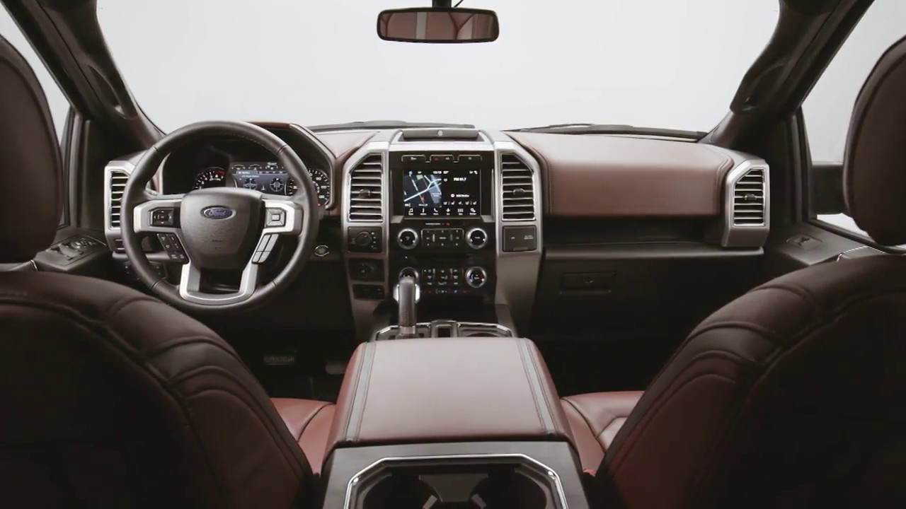 New 2018 ford f 150 interior footage youtube - 2018 ford f 150 limited interior ...