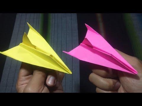 Cara Membuat Pesawat Sederhana dari Kertas | Origami Airplane