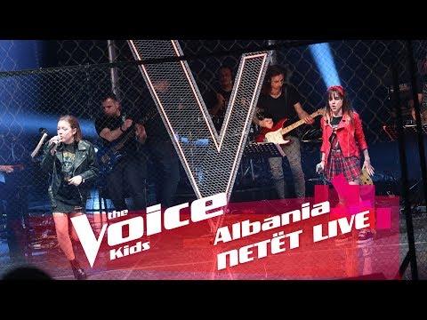 Frensi & Enxhi - You shook me all night long | Netët Live | Nata 2 | The Voice Kids Albania 2018 music