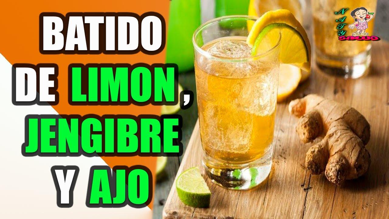 receta de limon ajo y jengibre para adelgazar