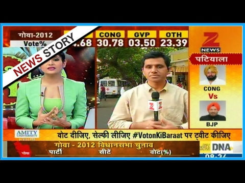 Reports on the voting for assembly of Punjab and Goa