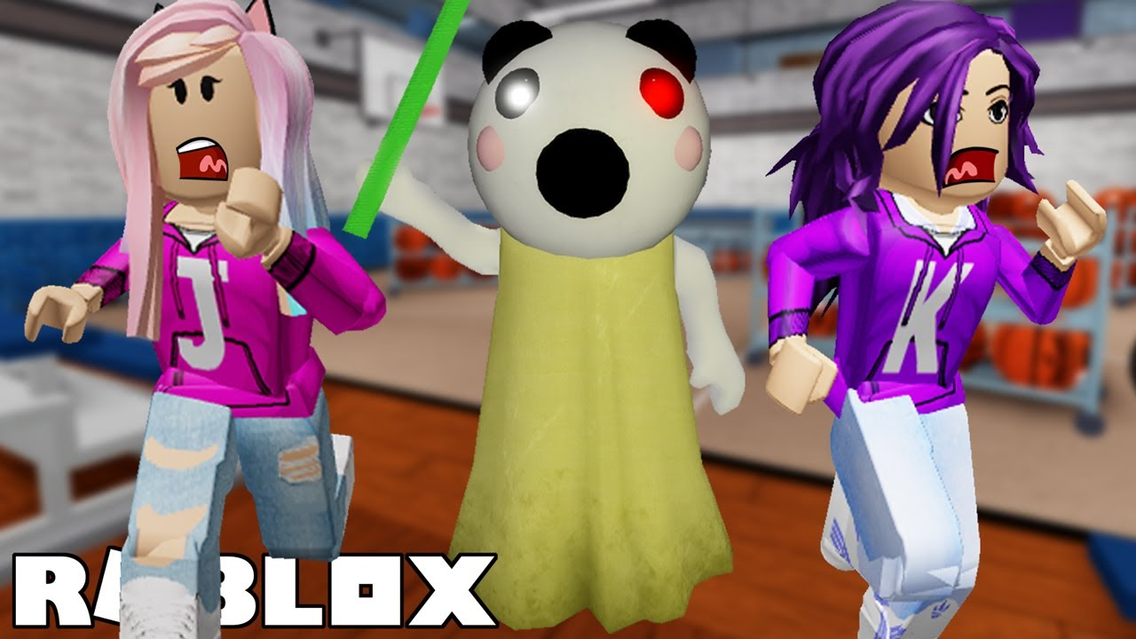 Escape School From Panda Piggy Roblox Piggy Chapter 5 Youtube