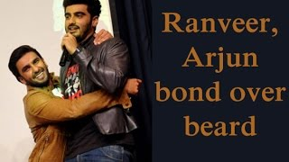 PIC: Ranveer-Arjun switch their beard - TOI