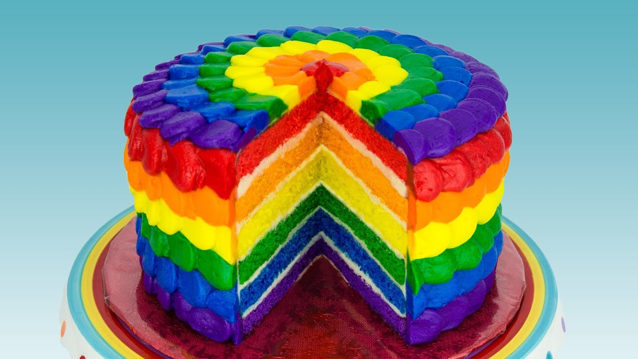 Rainbow Cake How To Make A Rainbow Cake By Cookies
