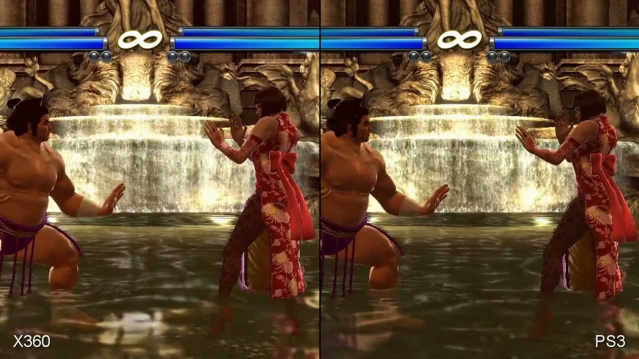 Tekken Tag Tournament 2 Xbox 360 Vs Ps3 Comparison Hd Youtube