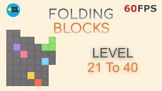 Folding Blocks: Level 21-40 iOS/Android Walkthrough