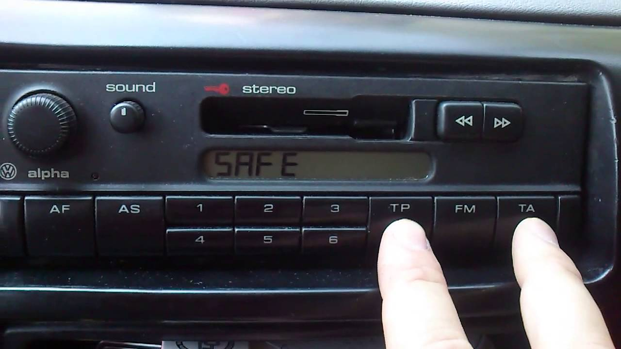 Auto Radio Kasetofon Vw Alpha Blaupunkt Youtube