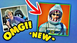 Ninja REACTS to *NEW* Upcoming Shark Skin in fortnite Chomp SR.*EPIC* Fortnite FUNNY MOMENTS