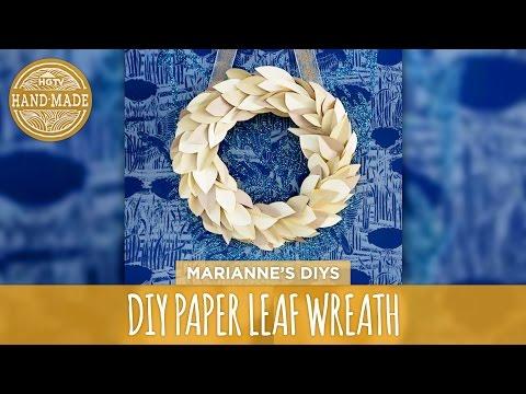 DIY Paper Leaf Wreath - HGTV Handmade
