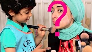 Makeup Challenge My 3 Year old Son Does My Make Up Thumbnail