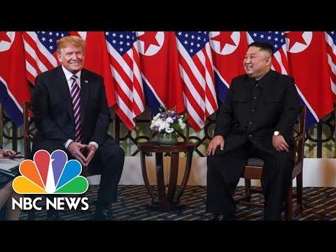 President Donald Trump, Kim Jong Un Hold Meeting To Start Vietnam Summit | NBC News Mp3